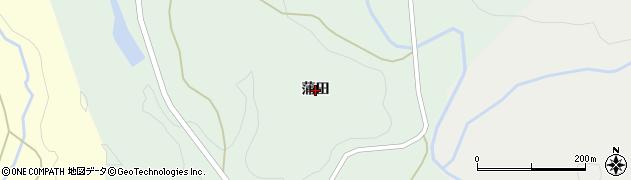 秋田県由利本荘市高尾(蒲田)周辺の地図