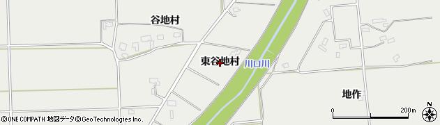 秋田県大仙市堀見内(東谷地村)周辺の地図