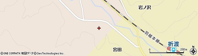 秋田県由利本荘市岩城下黒川(小坂)周辺の地図