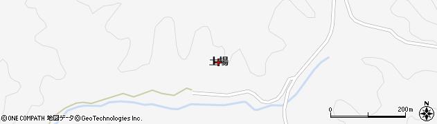 秋田県秋田市雄和萱ケ沢(土場)周辺の地図