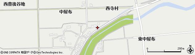 秋田県大仙市堀見内(西寺村)周辺の地図