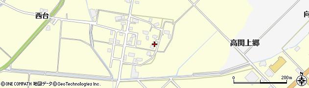 秋田県大仙市花館(唐関)周辺の地図