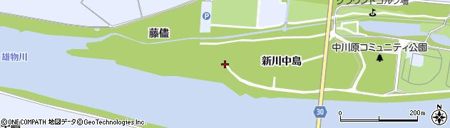 秋田県大仙市神宮寺(新川中島)周辺の地図
