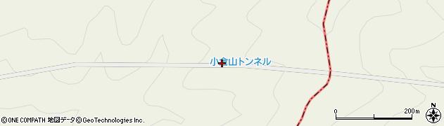 小倉山トンネル周辺の地図