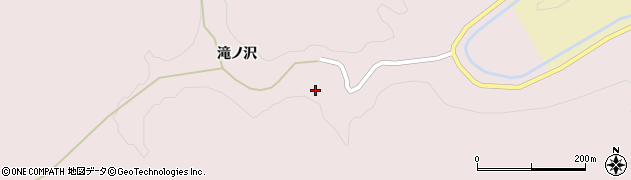 秋田県大仙市大沢郷宿(滝ノ沢)周辺の地図