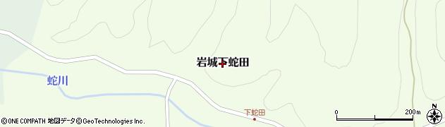 秋田県由利本荘市岩城下蛇田周辺の地図