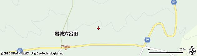 秋田県由利本荘市岩城六呂田(若王寺)周辺の地図