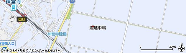 秋田県大仙市神宮寺(館越中嶋)周辺の地図