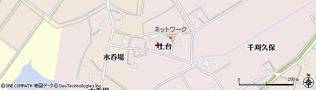秋田県大仙市新谷地(上台)周辺の地図