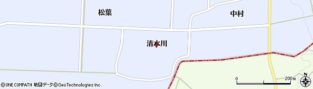 秋田県大仙市太田町川口(清水川)周辺の地図