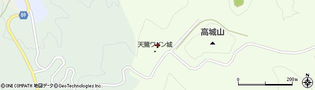 秋田県由利本荘市岩城下蛇田(高城)周辺の地図