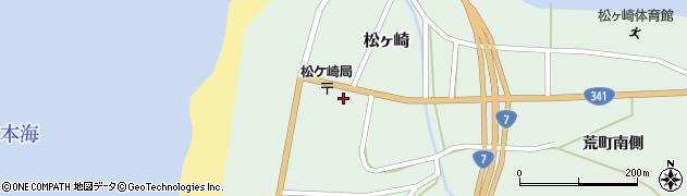 秋田県由利本荘市松ヶ崎(松ヶ崎町)周辺の地図