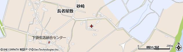 秋田県大仙市四ツ屋(砂崎)周辺の地図