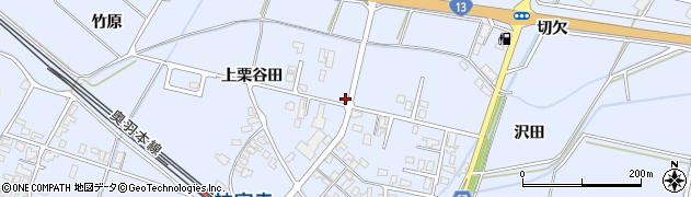 秋田県大仙市神宮寺(上栗谷田)周辺の地図