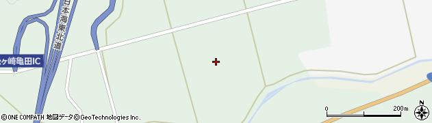 秋田県由利本荘市松ヶ崎(新大野)周辺の地図