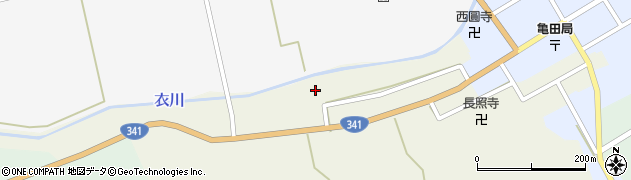 秋田県由利本荘市岩城亀田最上町(稲荷町)周辺の地図