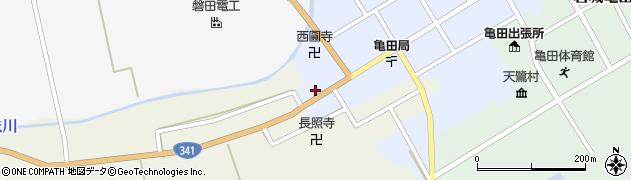 秋田県由利本荘市岩城亀田大町(大工町)周辺の地図