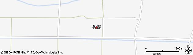 秋田県大仙市横堀(佐野)周辺の地図
