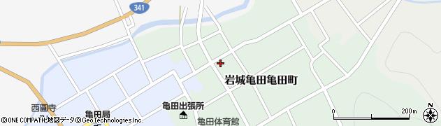 秋田県由利本荘市岩城亀田亀田町(新町)周辺の地図