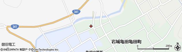 秋田県由利本荘市岩城亀田亀田町(下タ町)周辺の地図