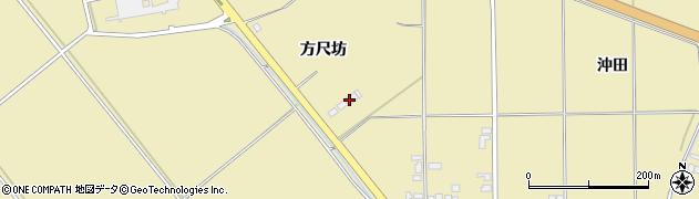 秋田県大仙市北楢岡(方尺坊)周辺の地図