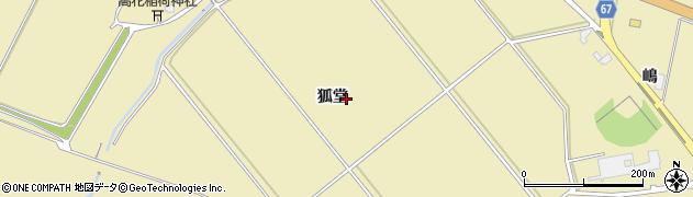 秋田県大仙市北楢岡(狐堂)周辺の地図