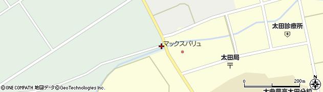 秋田県大仙市太田町国見(窪堰)周辺の地図