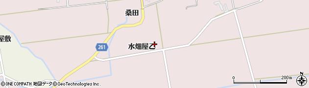 秋田県大仙市清水(水畑屋乙)周辺の地図