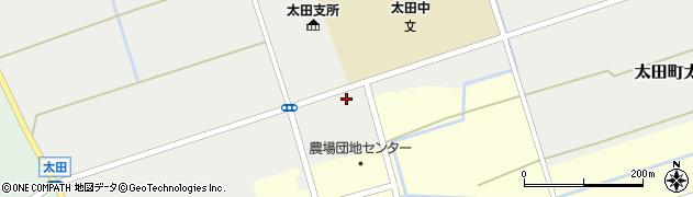 秋田県大仙市太田町太田(新田田尻)周辺の地図