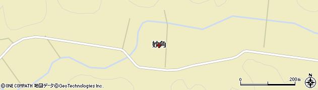 秋田県秋田市雄和神ケ村(妙角)周辺の地図