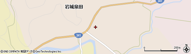 秋田県由利本荘市岩城泉田周辺の地図