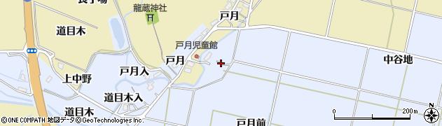 秋田県大仙市神宮寺(戸月前)周辺の地図
