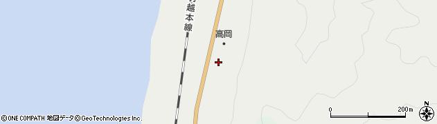 秋田県由利本荘市岩城二古(尼平)周辺の地図