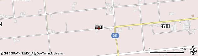 秋田県大仙市清水(高田)周辺の地図