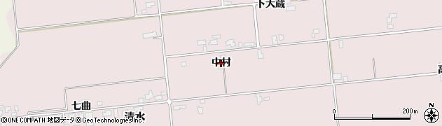 秋田県大仙市清水(中村)周辺の地図