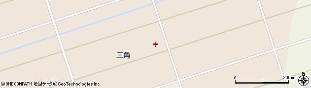 秋田県大仙市太田町斉内(三角)周辺の地図