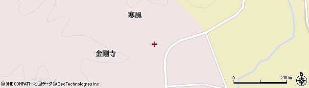 秋田県大仙市大沢郷宿(寒風)周辺の地図