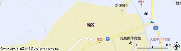 秋田県秋田市雄和神ケ村(陳笠)周辺の地図