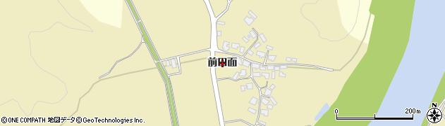 秋田県大仙市大沢郷寺(前田面)周辺の地図