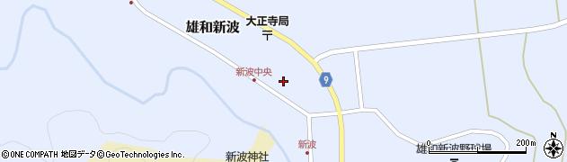 秋田県秋田市雄和新波(竹ノ花)周辺の地図