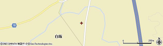 秋田県大仙市大沢郷寺(白坂館)周辺の地図