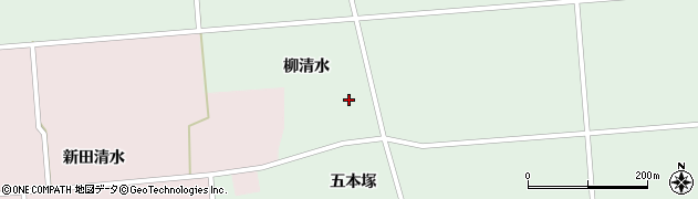 秋田県大仙市太田町国見(柳清水)周辺の地図