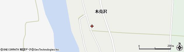秋田県大仙市木原田(木売沢)周辺の地図
