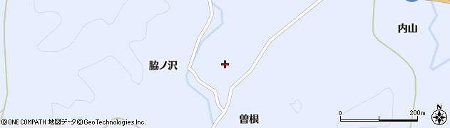 秋田県秋田市雄和繋(曽根)周辺の地図