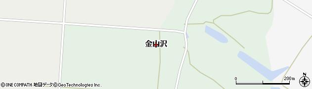 秋田県大仙市金山沢周辺の地図