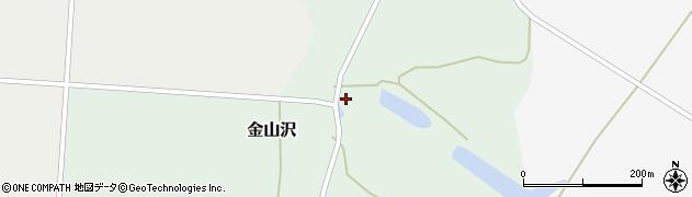 秋田県大仙市金山沢(堤ノ下)周辺の地図