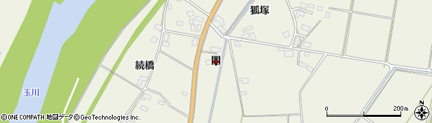 秋田県大仙市長野(開)周辺の地図