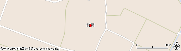 秋田県大仙市太田町斉内(北開)周辺の地図