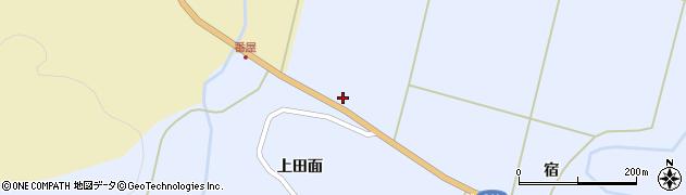 秋田県秋田市雄和繋周辺の地図