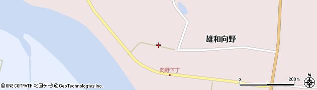 秋田県秋田市雄和向野(佛ノ前)周辺の地図